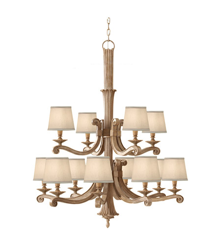 Feiss Blaire 12 Light Chandelier in Medium Aged Wood F2682/8+4MAW photo