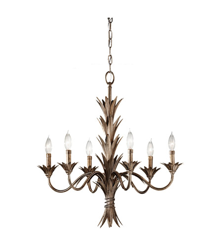 Feiss Flora 6 Light Chandelier in Stardust F2686/6STA photo