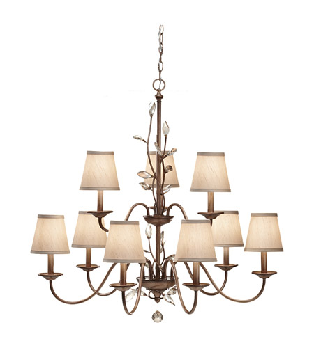 Feiss Priscilla 9 Light Chandelier in Arctic Silver F2696/6+3ARS photo
