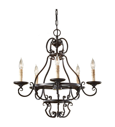 Feiss Barnaby 5 Light Chandelier in Liberty Bronze F2715/5LBR photo