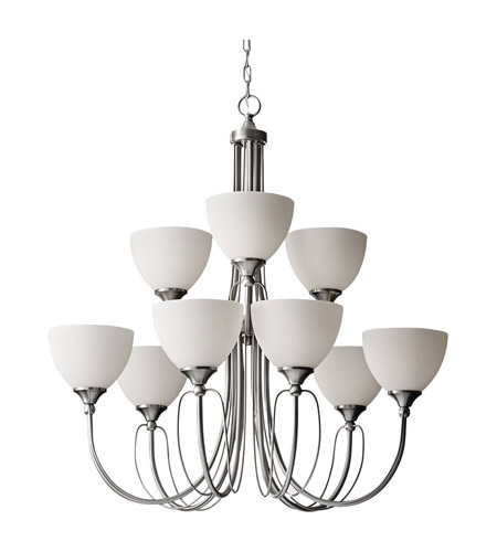 Feiss Morgan 9 Light Chandelier in Brushed Steel F2729/6+3BS photo