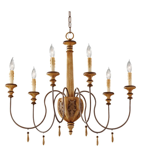 Feiss Annabelle 6 Light Chandelier in Ivory Crackle F2733/6IC photo