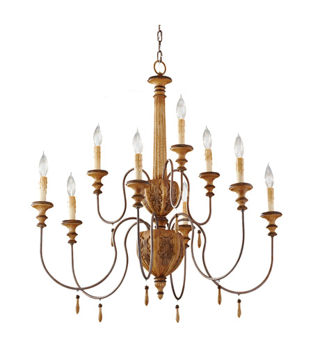 Feiss Annabelle 9 Light Chandelier in Ivory Crackle F2734/6+3IC photo