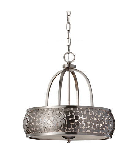 Feiss Zara 4 Light Chandelier in Brushed Steel F2737/4BS photo
