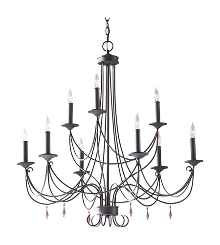 Feiss Aliya 9 Light Chandelier in Rustic Iron F2748/6+3RI photo