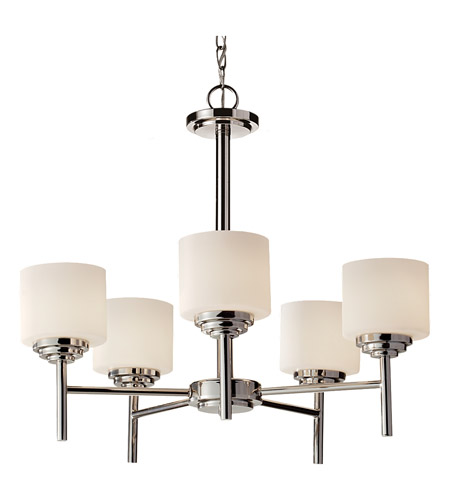 Feiss F2766/5PN Malibu 5 Light 25 inch Polished Nickel Chandelier Ceiling Light photo