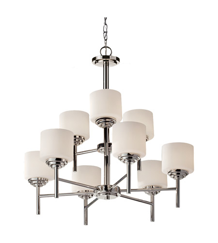 Feiss Malibu 9 Light Chandelier in Polished Nickel F2767/6+3PN photo