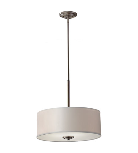 Feiss Brushed Steel Kincaid Chandeliers