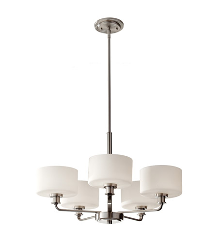 Feiss Kincaid 5 Light Chandelier in Brushed Steel F2773/5BS photo