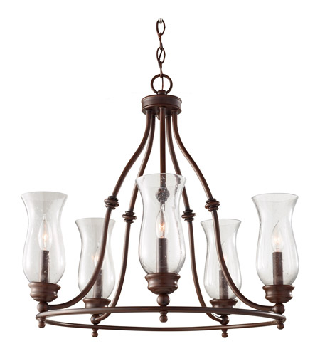 Feiss F2783/5HTBZ Pickering Lane 5 Light 24 inch Heritage Bronze Chandelier Ceiling Light photo