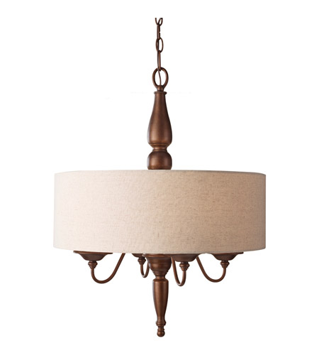 Feiss Yorktown Heights 4 Light Chandelier in Prescott Bronze F2786/4PRBZ photo