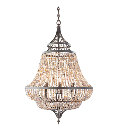 Feiss F2808/6RI Maarid 6 Light 24 inch Rustic Iron Chandelier Ceiling Light  photo