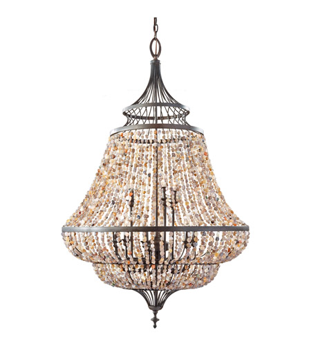 Feiss F2809/9RI Maarid 9 Light 30 inch Rustic Iron Chandelier Ceiling Light photo