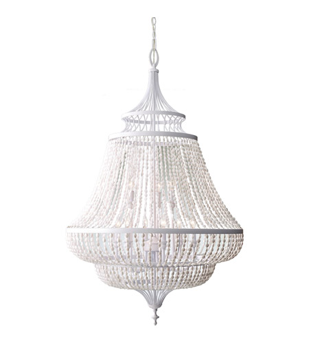 Feiss Maarid 9 Light Chandelier in White Semi Gloss F2809/9WSG photo