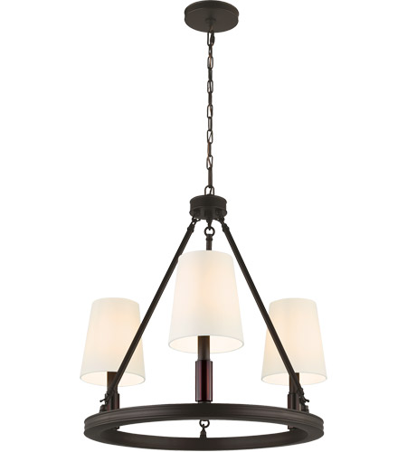 Feiss F2921/3ORB Lismore 3 Light 23 inch Oil Rubbed Bronze Chandelier Ceiling Light photo
