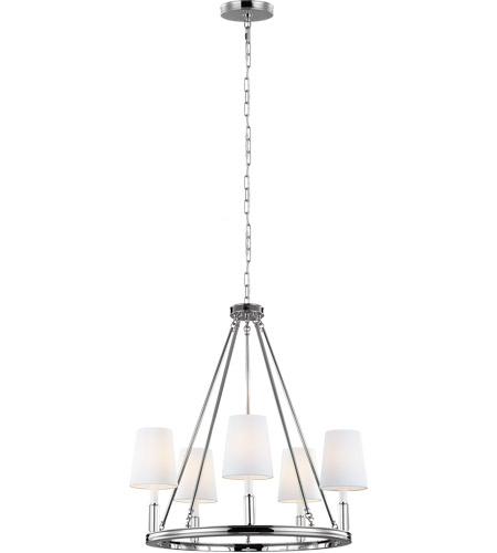 Feiss F2922 5pn Lismore 5 Light 28 Inch Polished Nickel