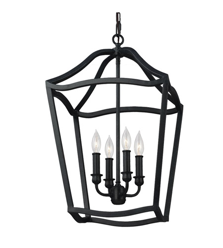 Murray Feiss Foyer Lighting: Feiss Yarmouth 4 Light Foyer Pendant In Antique Forged