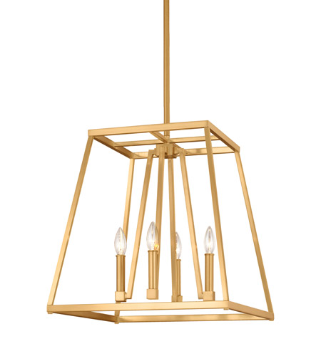 Murray Feiss Fusion Collection: Feiss F3150/4GSB Conant 4 Light 18 Inch Gilded Satin Brass