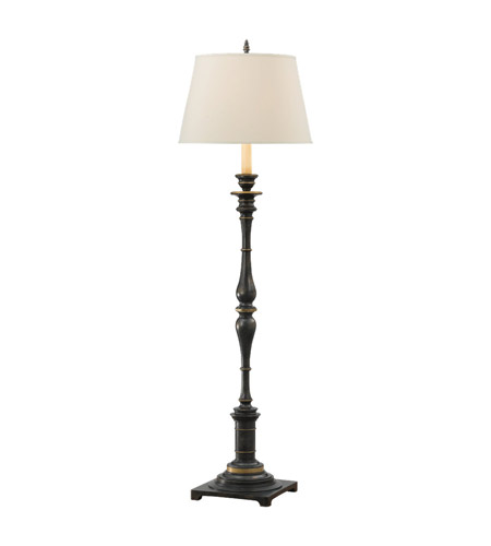 Feiss Heritage 1 Light Floor Lamp in Midnight Silver FL6222MSVR photo