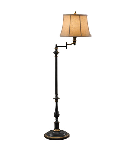 Feiss Maddalyn 1 Light Floor Lamp in Antique Brown FL6237ANB photo