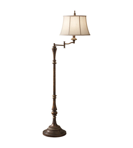 Feiss Gibson 1 Light Swing Arm Floor Lamp in Cambridge Crackle FL6261CAC photo