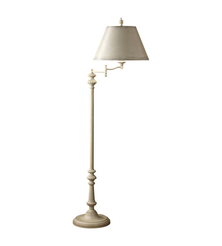 Feiss Zoe 1 Light Swing Arm Floor Lamp in Bedpost White FL6264BPW photo