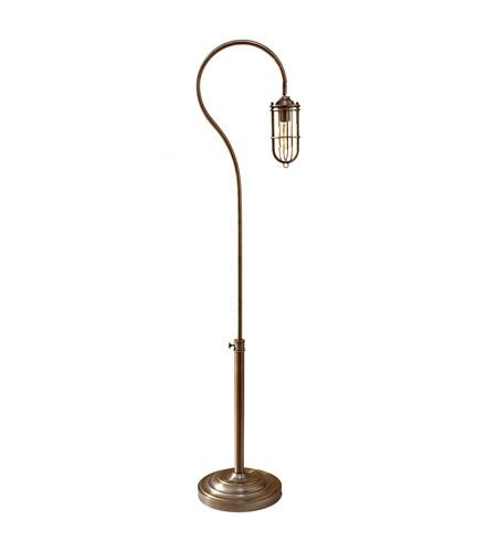 Feiss Urban Renewal 1 Light Floor Lamp in Dark Antique Brass FL6306DAB photo