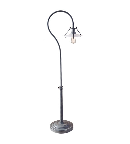 Feiss Urban Renewal 1 Light Floor Lamp in Weathered Zinc FL6307WZC photo