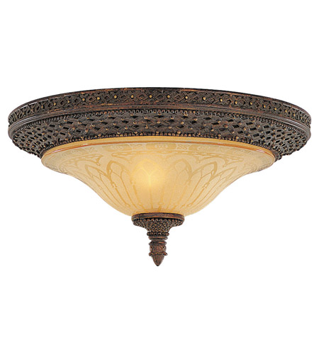 Feiss Casbah 2 Light Flush Mount in Palladio FM169PAL photo