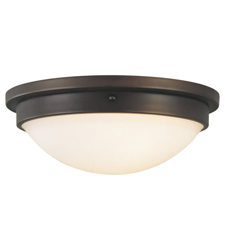 Feiss Boulevard 2 Light Flush Mount in Oil Rubbed Bronze FM228ORB photo