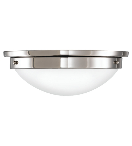 Feiss American Foursquare 2 Light Flush Mount in Polished Nickel FM228PN photo