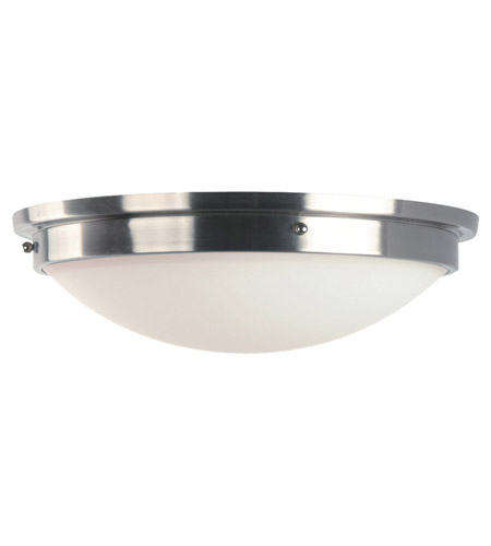 Feiss Gravity 2 Light Flush Mount in Brushed Steel and Polished Nickel FM229BS/PN photo