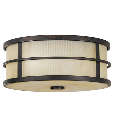 Feiss FM256GBZ Fusion 2 Light 12 inch Grecian Bronze Flush Mount Ceiling Light photo