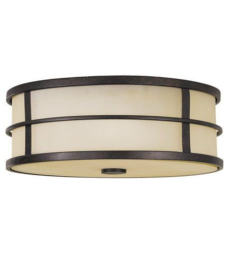 Feiss FM257GBZ Fusion 3 Light 14 inch Grecian Bronze Flush Mount Ceiling Light photo