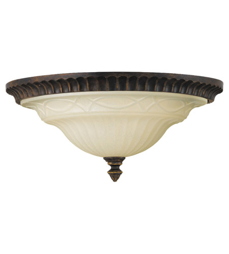 Feiss Drawing Room 2 Light Flush Mount in Walnut FM270WAL photo
