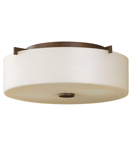 Feiss FM313CB Sunset Drive 2 Light 14 inch Corinthian Bronze Flush Mount Ceiling Light in Standard, Pearl Glass photo