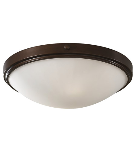 Feiss FM353HTBZ Perry 2 Light 15 inch Heritage Bronze Flush Mount Ceiling Light photo