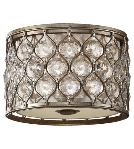 Feiss Lucia 2 Light Flush Mount in Burnished Silver FM355BUS photo