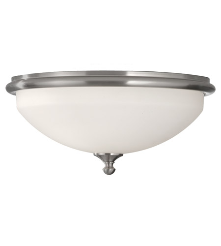 Feiss Merritt 2 Light Flush Mount in Brushed Steel FM358BS photo