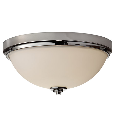 Feiss FM372PN Malibu 2 Light 13 inch Polished Nickel Flush Mount Ceiling Light photo