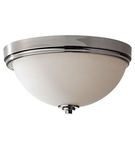 Feiss Malibu 3 Light Flush Mount in Polished Nickel FM373PN photo