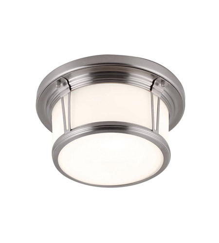 Feiss FM387BS Woodward 2 Light 11 inch Brushed Steel Flush Mount Ceiling Light photo