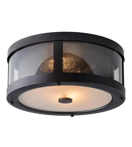 Feiss FM396ORB Bluffton 2 Light 13 inch Oil Rubbed Bronze Flush Mount Ceiling Light photo