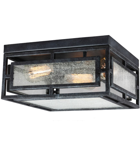 Feiss FM448DWZ Prairielands 2 Light 12 inch Dark Weathered Zinc Flush Mount Ceiling Light photo