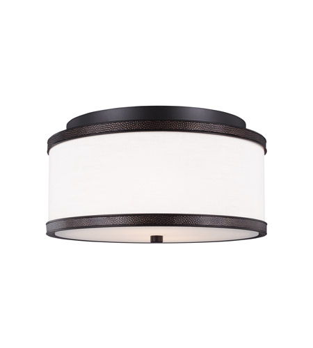 Feiss FM502ORB Marteau 2 Light 13 inch Oil Rubbed Bronze Flush Mount Ceiling Light photo
