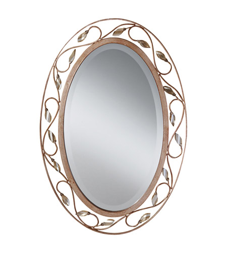 Murray Feiss Mirrors: Feiss MR1109ARS Priscilla 30 X 20 Inch Arctic Silver Wall