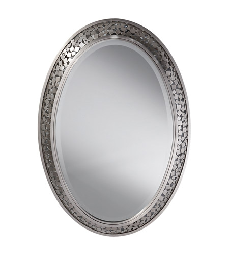 Feiss Zara Mirror in Brushed Steel MR1110BS photo