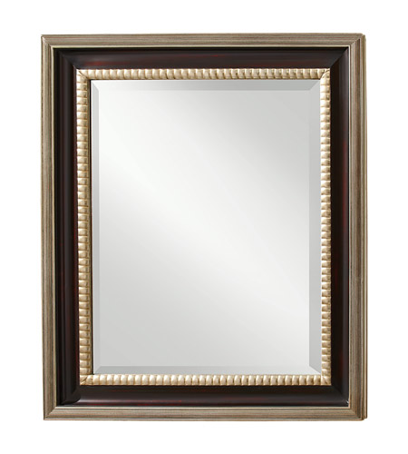 Murray Feiss Mirrors: Feiss MR1113MHG/ASL Boyd 52 X 44 Inch Mahogany And Antique