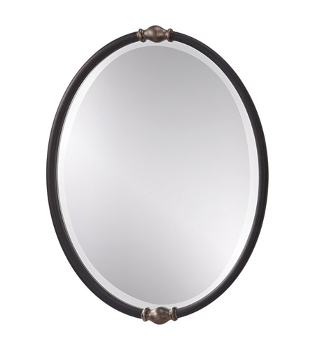 Feiss Jackie Mirror in Black and Antique Silver MR1119BK/ASL photo