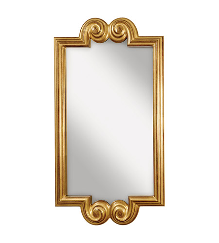 Feiss Melanie Mirror in Pale Antique Gold MR1121PAG photo